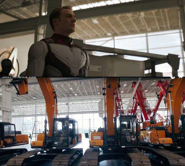 大陸網友提供照片比對,《復仇者聯盟4:終局之戰》的拍片取景之地為三一重工美國總部...