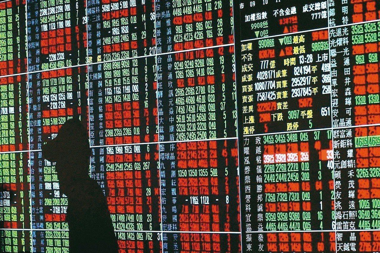 美國科技股大漲;台股今日開高後盤中再續向上。 圖/聯合報系資料照片