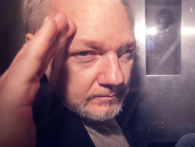 維基解密(WikiLeaks)創辦人亞桑傑(Julian Assange)。 歐新社