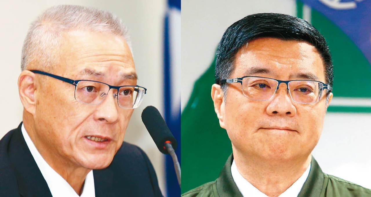 國民黨主席吳敦義(左)和民進黨主席卓榮泰都為總統初選傷透腦筋。 圖/聯合報系資料...