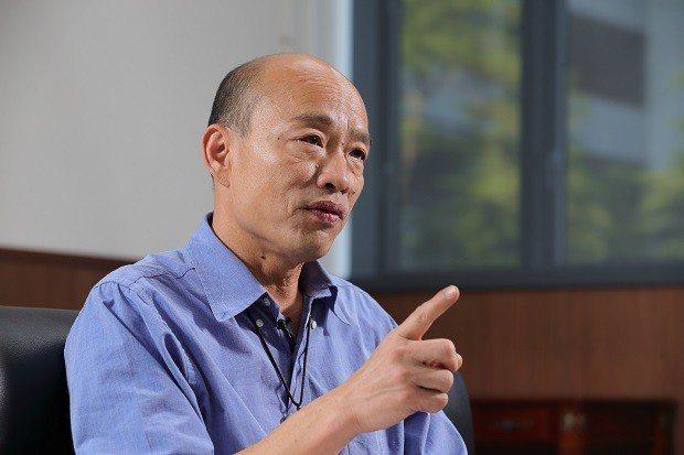 韓國瑜指出高雄的潛力無窮,只是沒有廣為人知,所以他要帶頭衝。(王建棟攝)