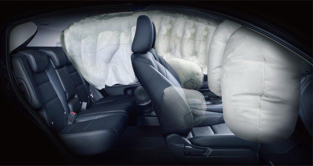 全車系標配6具氣囊。 圖/Honda Taiwan提供