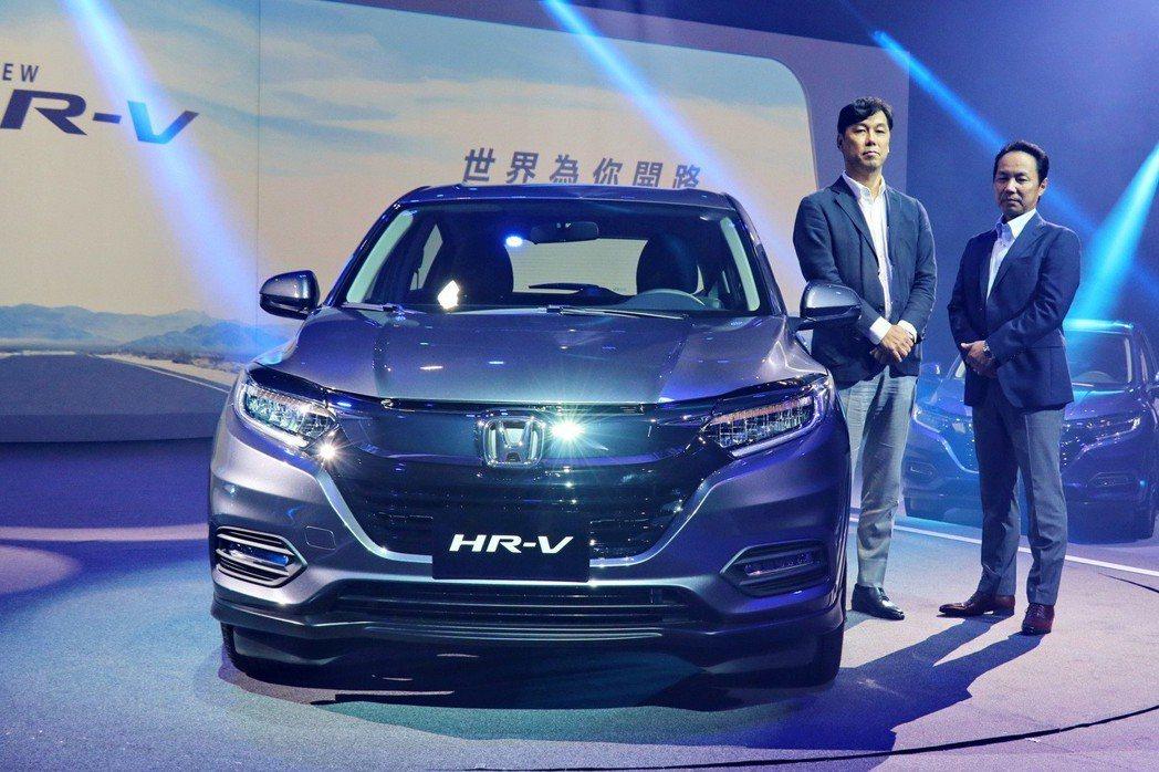 台灣本田對HR-V深具信心,預計年販目標為1萬2千台。 記者陳威任/攝影