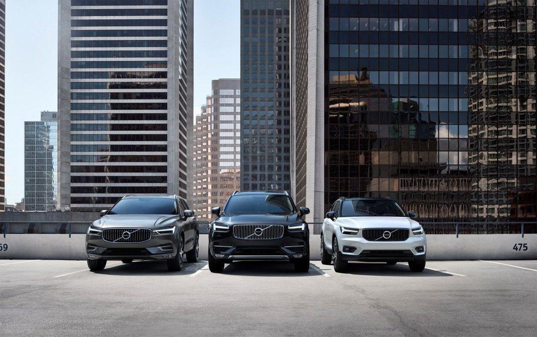 Volvo XC60、XC90、XC40仍是品牌銷售最佳的三款車型。  摘自V...