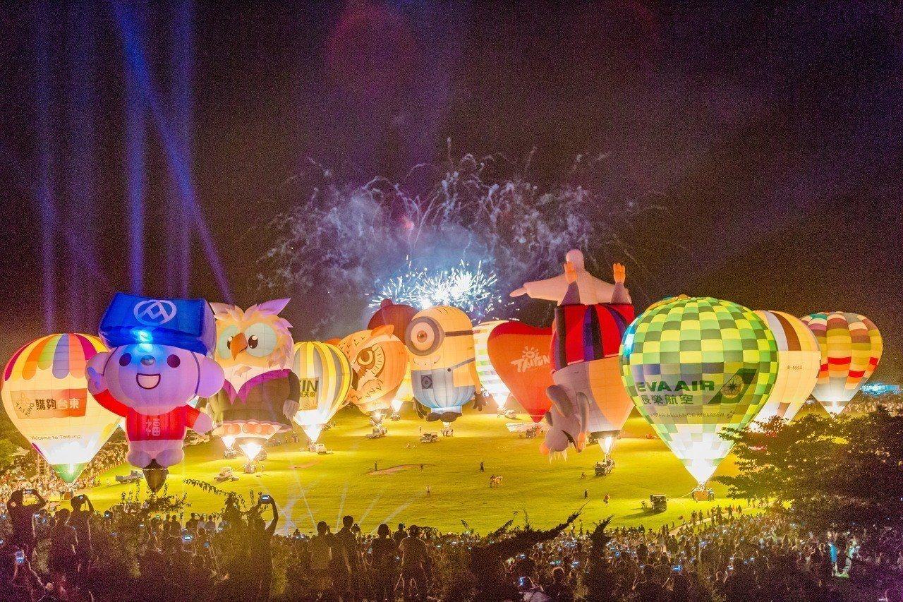 台東一年一度的台灣國際熱氣球嘉年華,今年預計在6月29日起舉辦,活動期間有8場熱...
