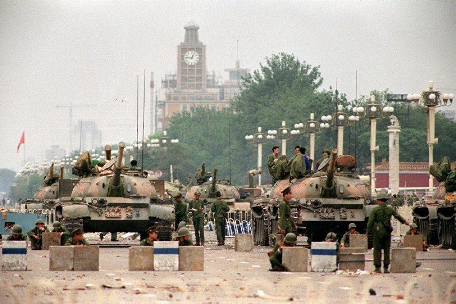 攝於1989年6月6日,北京天安門。 圖/法新社