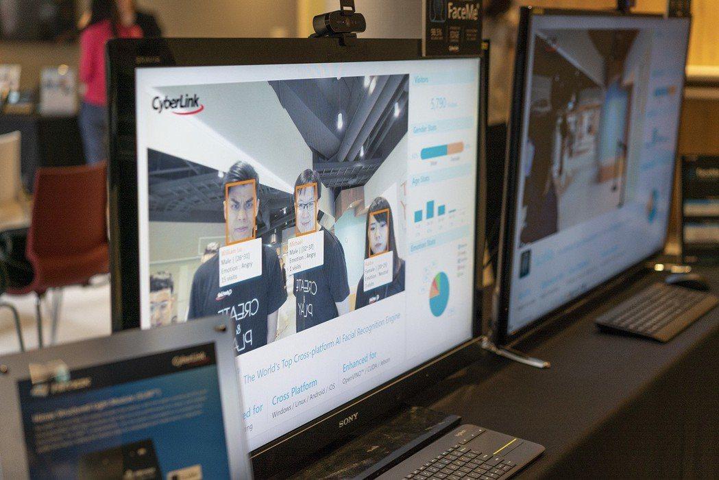 臉部辨識智慧零售應用。 訊連科技/提供