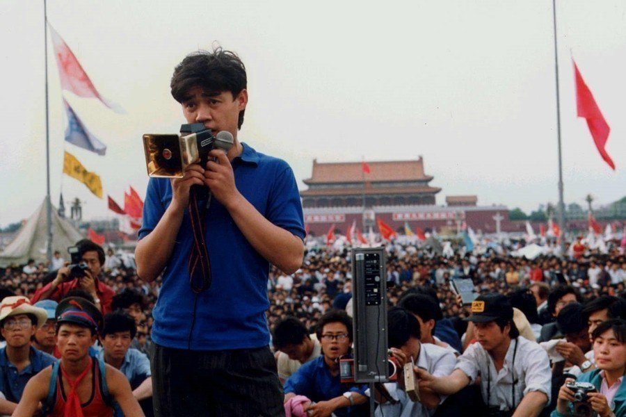 吾爾開希,攝於1989年6月1日,北京天安門。 圖/聯合報系資料照