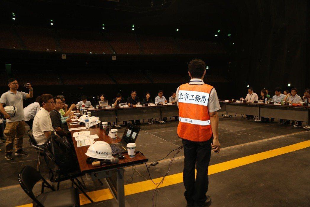 台北市議會今天上午考察台北流行音樂中心。記者魏莨伊/攝影