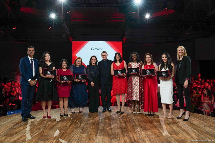 2019年卡地亞靈思湧動女性創業家獎得獎者合影。圖/卡地亞提供