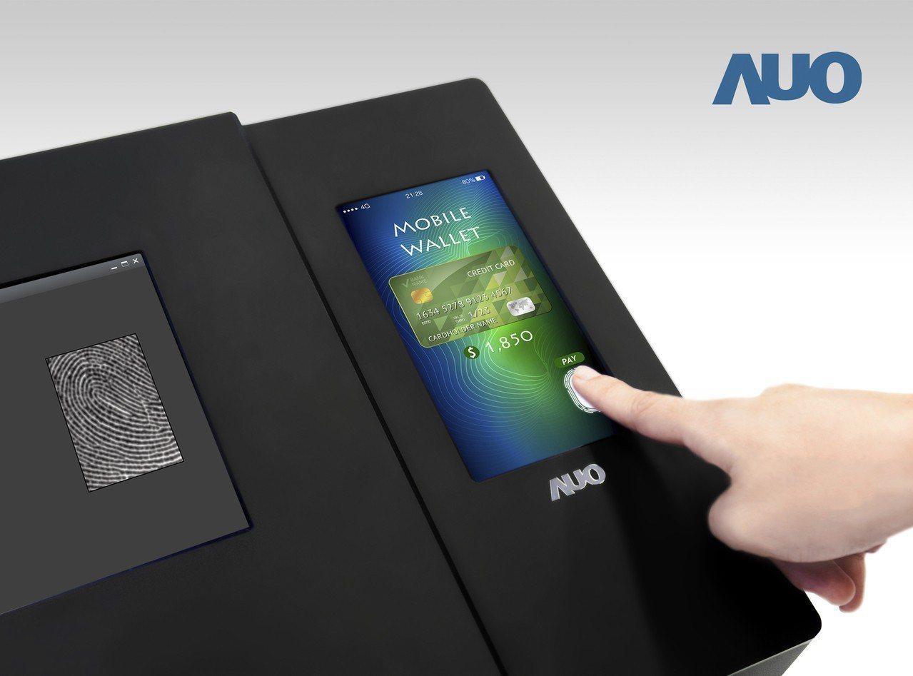 友達發表全球首款6吋全螢幕光學內嵌式指紋掃描LTPS面板。圖/友達提供