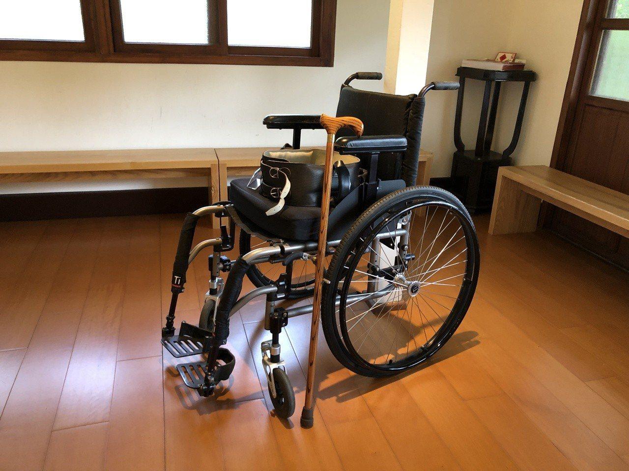 孫運璿使用過的輪椅。記者曹悅華/攝影