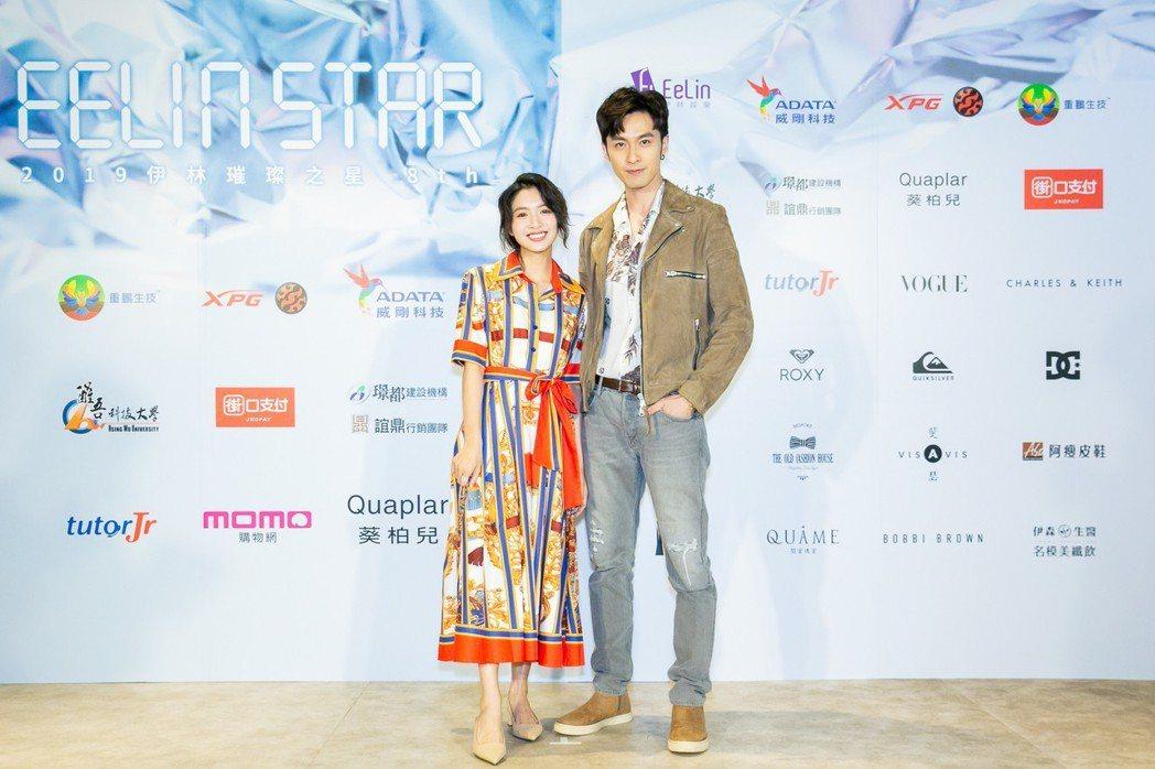 張雁名(右)、劉倩妏出席伊林璀璨之星選秀活動。圖/伊林提供
