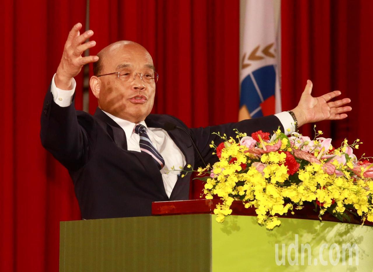 行政院長蘇貞昌稱讚新南向政策已逐漸展現成效。 聯合報系記者黃義書/攝影