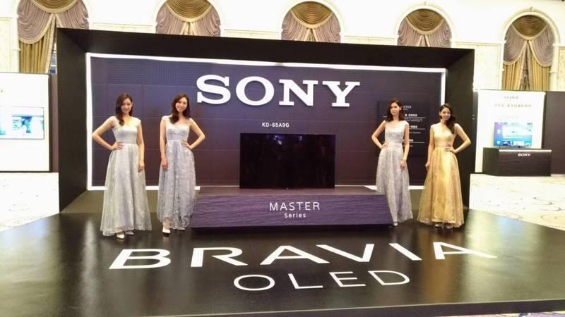 全球知名電視品牌索尼(Sony)台發表全新的77吋OLED TV,今年在台灣市場銷售金額佔有率持續保持第一。記者張義宮/攝影