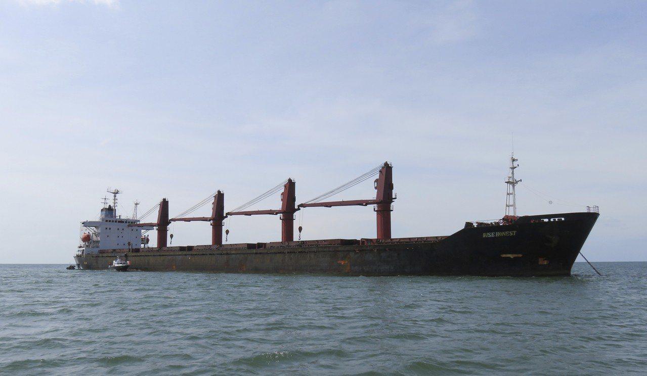 遭美國扣押的北韓「智誠號」貨輪。 (美聯社)