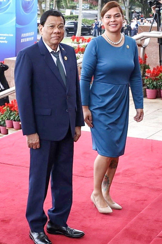 菲律賓總統杜特蒂的長女薩拉成功連任市長。 歐新社