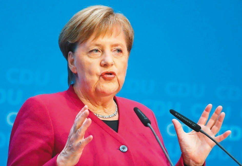 德國總理梅克爾。 路透