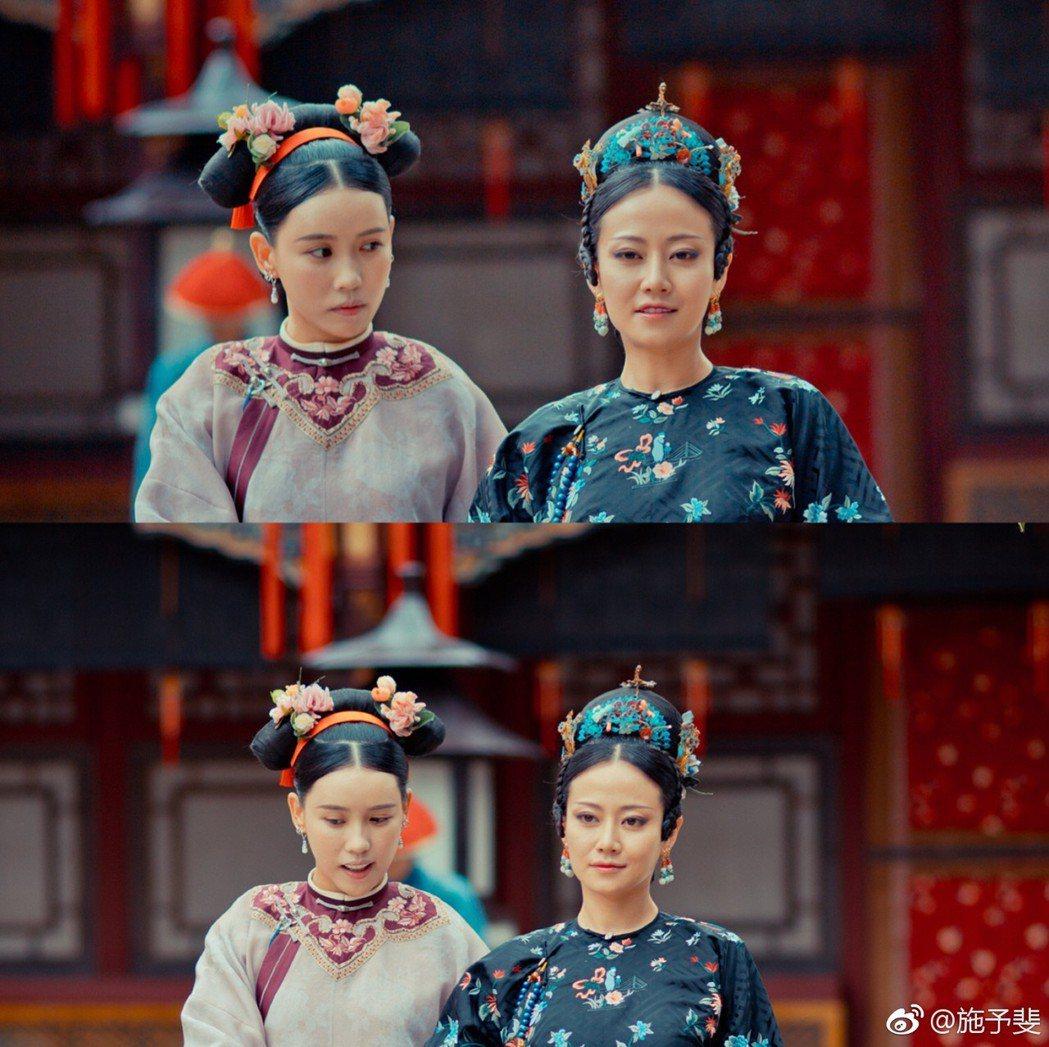 該女星正是當年《延禧攻略》在貴妃身邊的ㄚ鬟「芝蘭」施予斐!圖/擷自weibo...