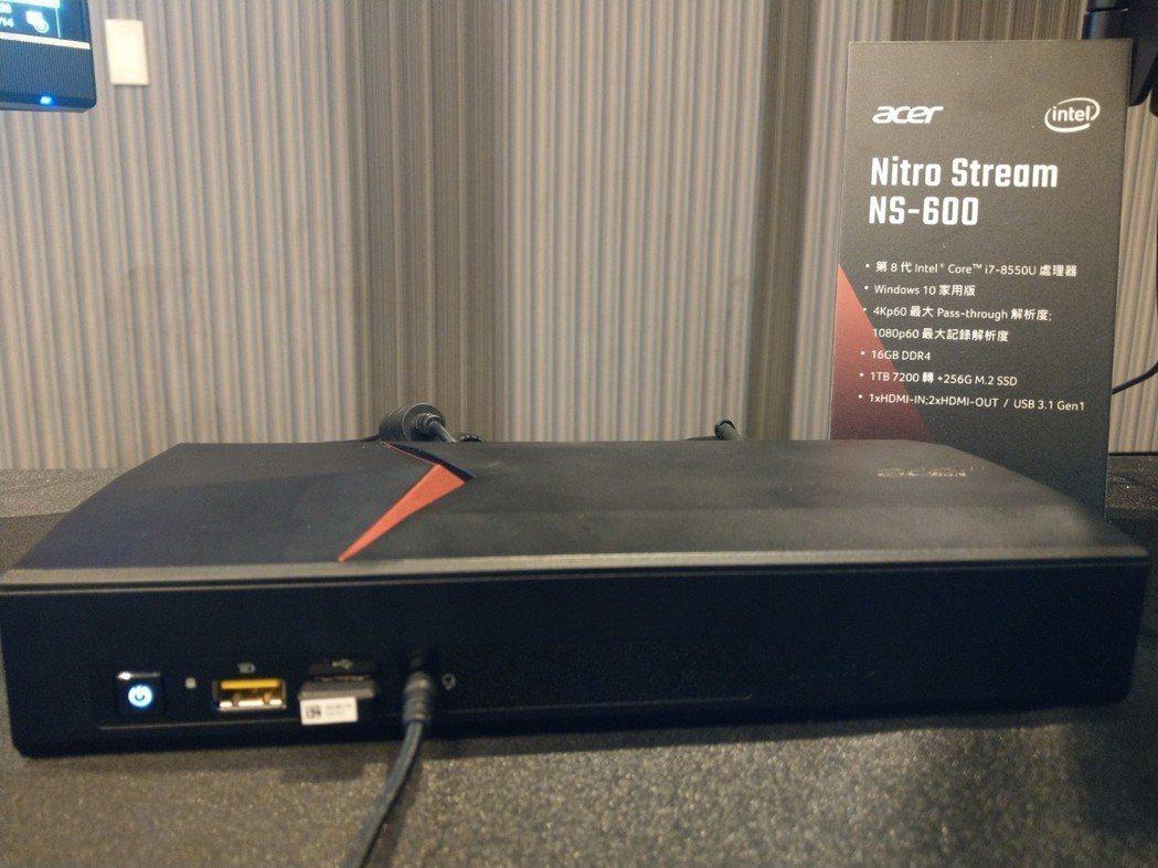 直播機 Nitro Stream,內建影像擷取卡。
