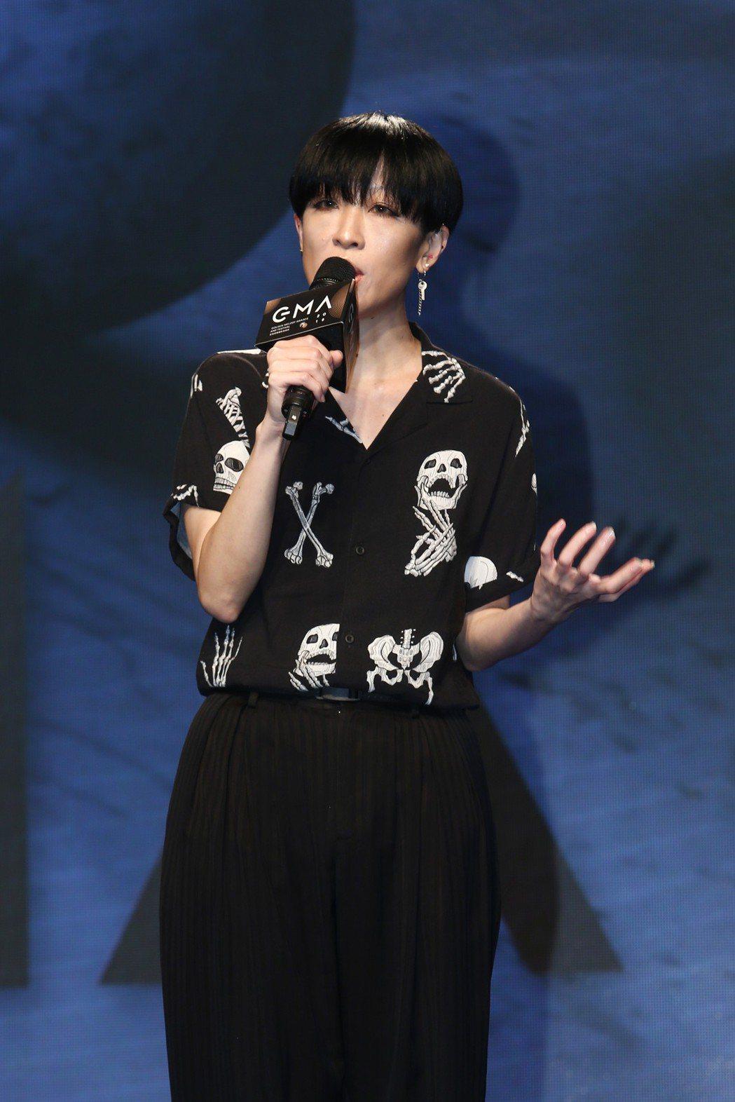 第30屆金曲獎評審主席陳珊妮本身入圍製作人。記者蘇健忠/攝影