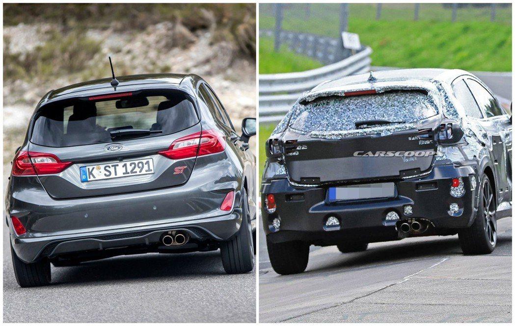 Ford Fiesta ST vs. Ford Puma ST偽裝車。 摘自Fo...