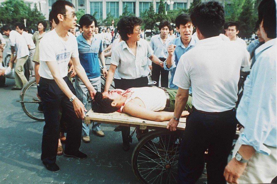 攝於1989年6月8日,北京天安門。 圖/美聯社