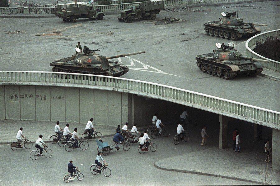 攝於1989年6月6日,北京天安門。 圖/美聯社