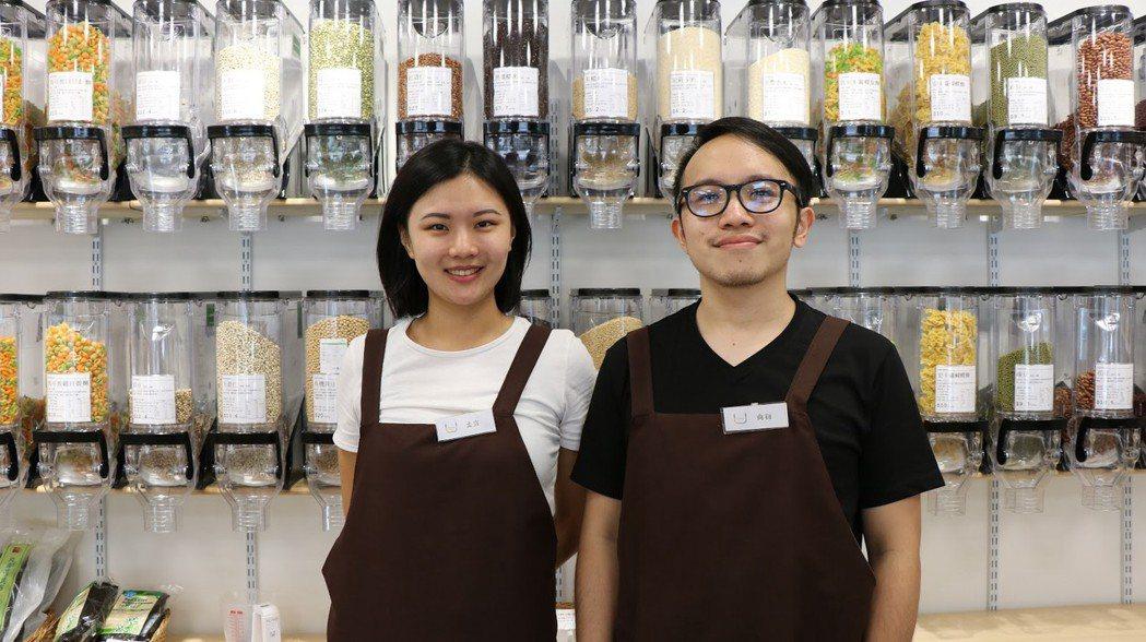 店長周孟宣(左)與合夥人黃尚衍(右)。 攝影/張海琦