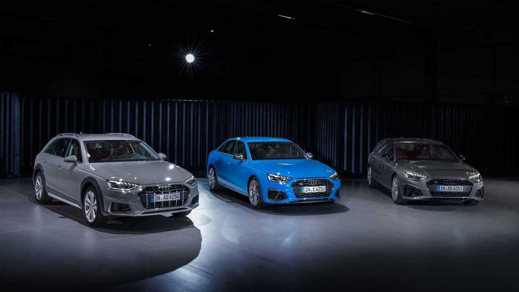 這次A4小改還導入三款搭配12V輕油電動力系統的MHEV車型。 摘自Audi