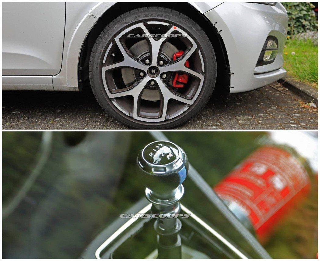 從鋁圈、紅色剎車卡鉗與N字樣六速排檔桿,可猜測這輛「假i20」其實是全新Hyun...