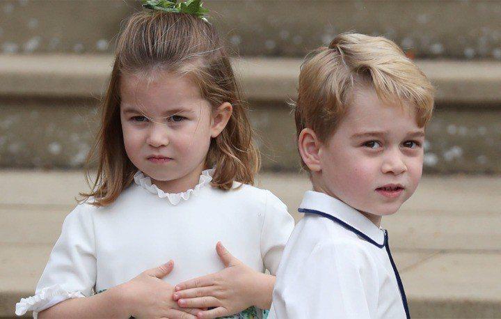 喬治王子與夏綠蒂公主都很期待要見小堂弟亞契。圖/路透資料照片