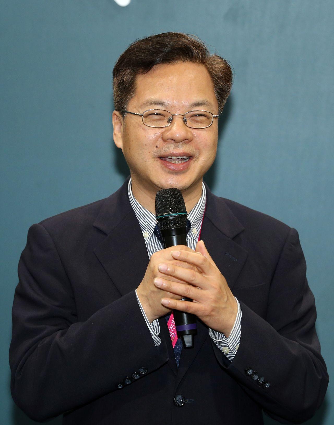 龔明鑫提出「非紅」概念以對應中國廠商的「紅色供應鏈」。攝影中心 曾吉松