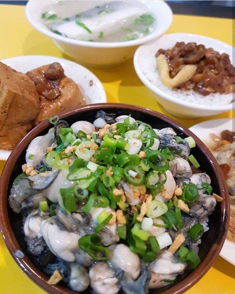阿義魯肉飯的「蚵仔魯肉蓋飯」IG滿滿打卡。IG @seine9388提供