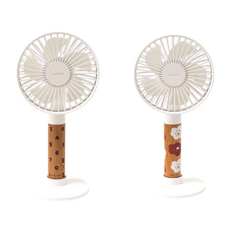 SOU‧SOU X PROBOX獨家聯名手持涼風扇,各899元。圖/誠品提供