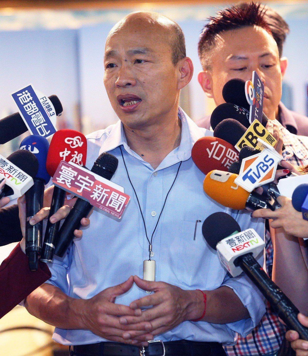 高市長韓國瑜。圖/本報資料照