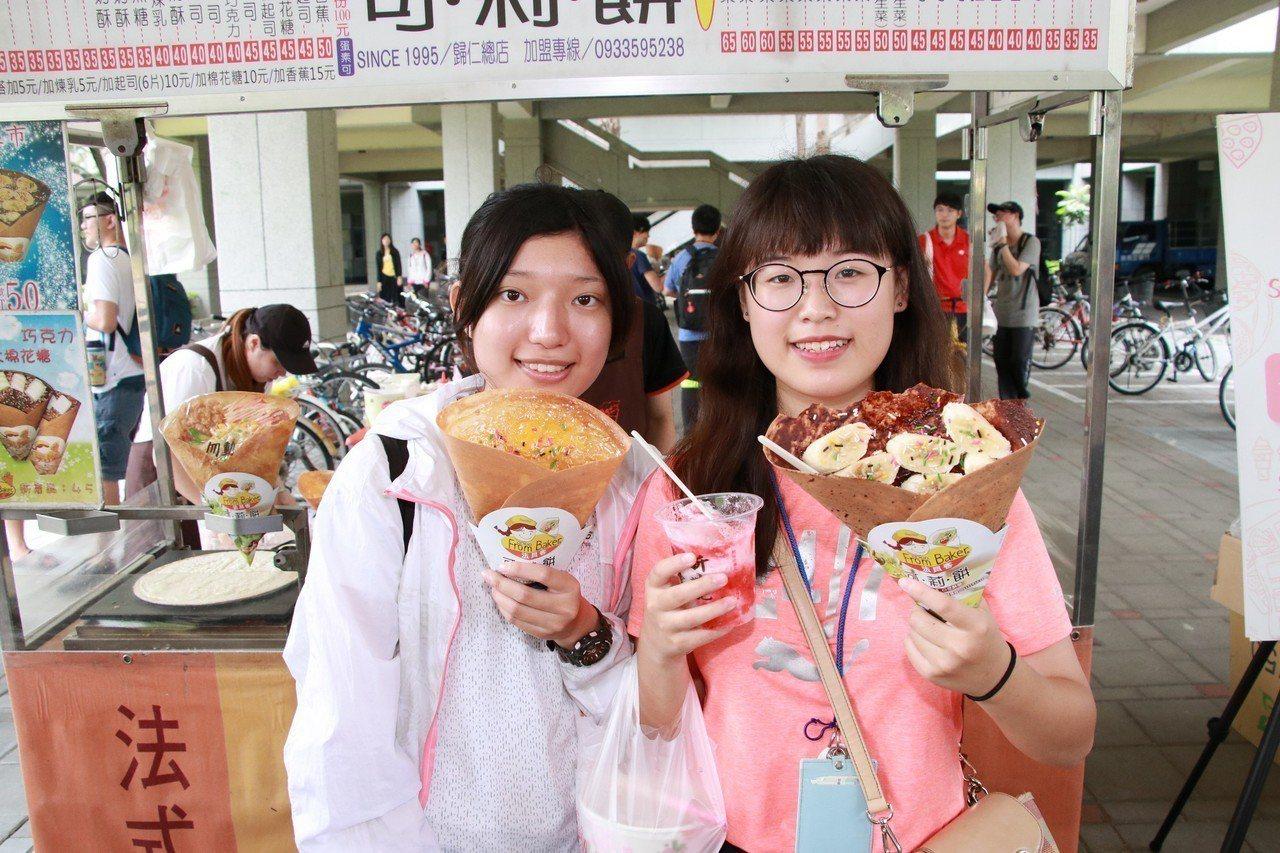 高雄大學鼓勵學生開口說英語,只要全程以英語完成點購「可麗餅(Crepe)」、「雪...