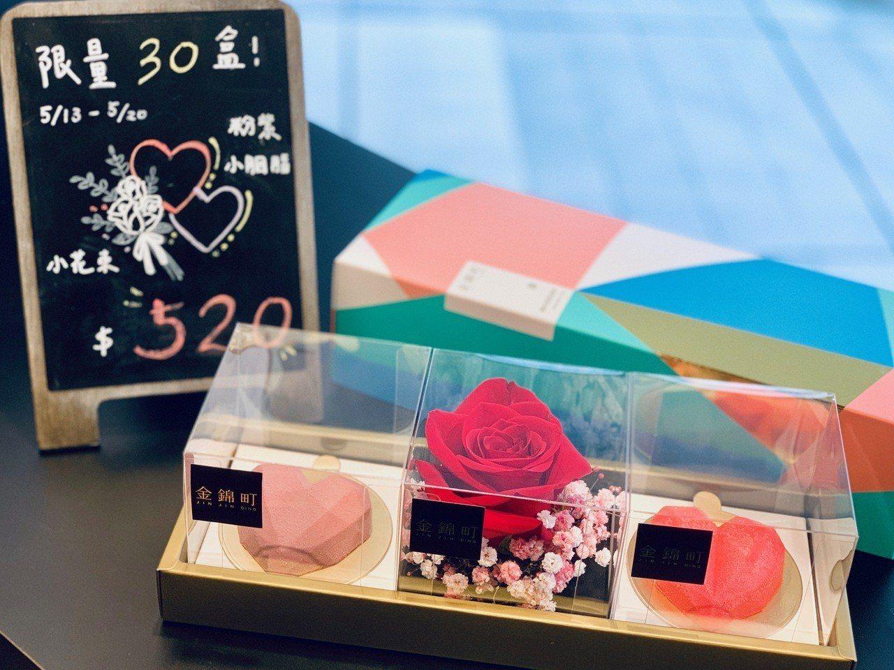 「胭脂禮盒」售價520元。記者張芳瑜/攝影