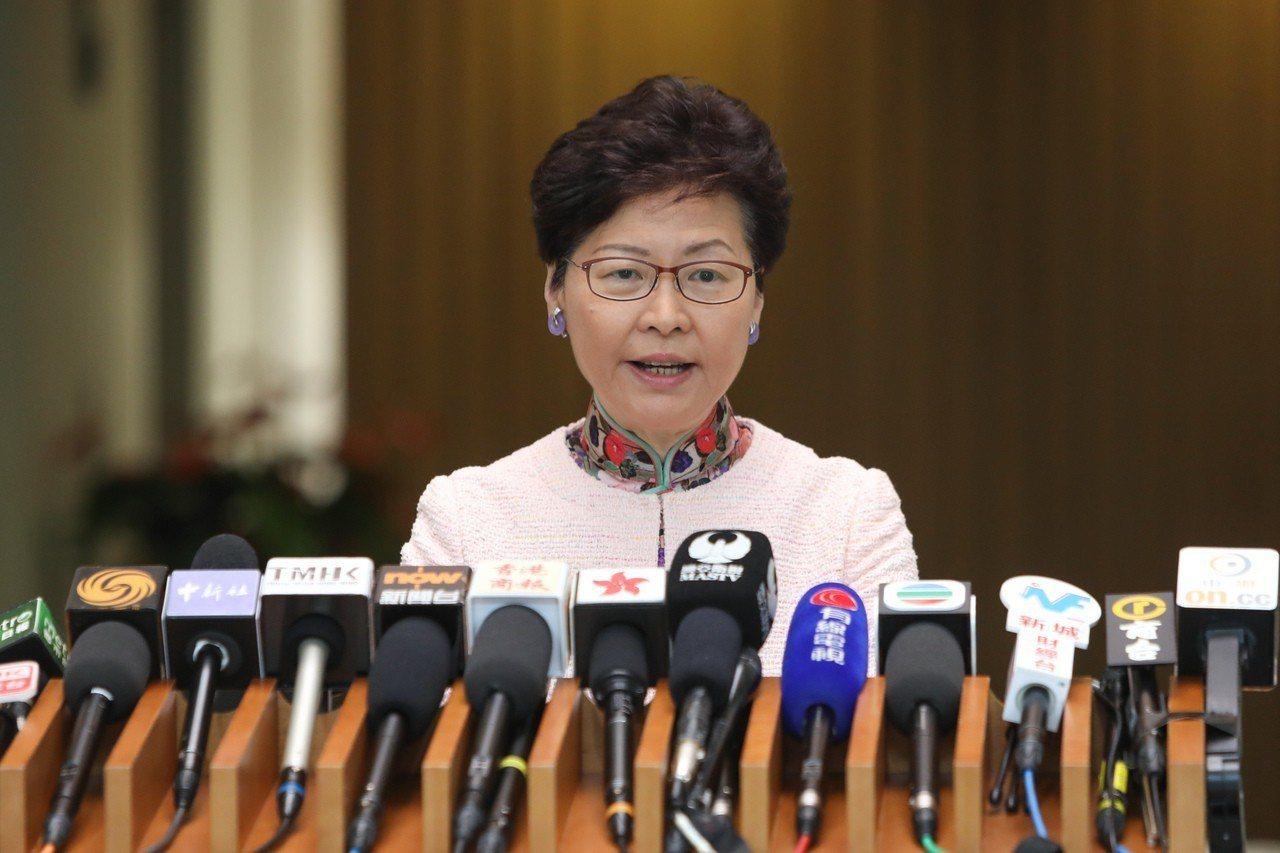 香港行政長官林鄭月娥。中通社