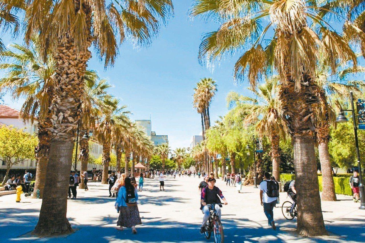 聖荷西州立大學座落於矽谷,是全美各大學畢業生在矽谷就業人數最多的學校。 圖/聖荷...