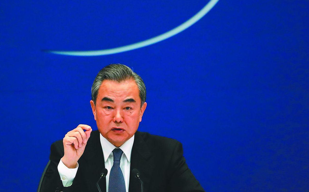 大陸外長王毅理性應對貿易戰,試圖尋找對雙方損害最小的解決方案。 (歐新社)