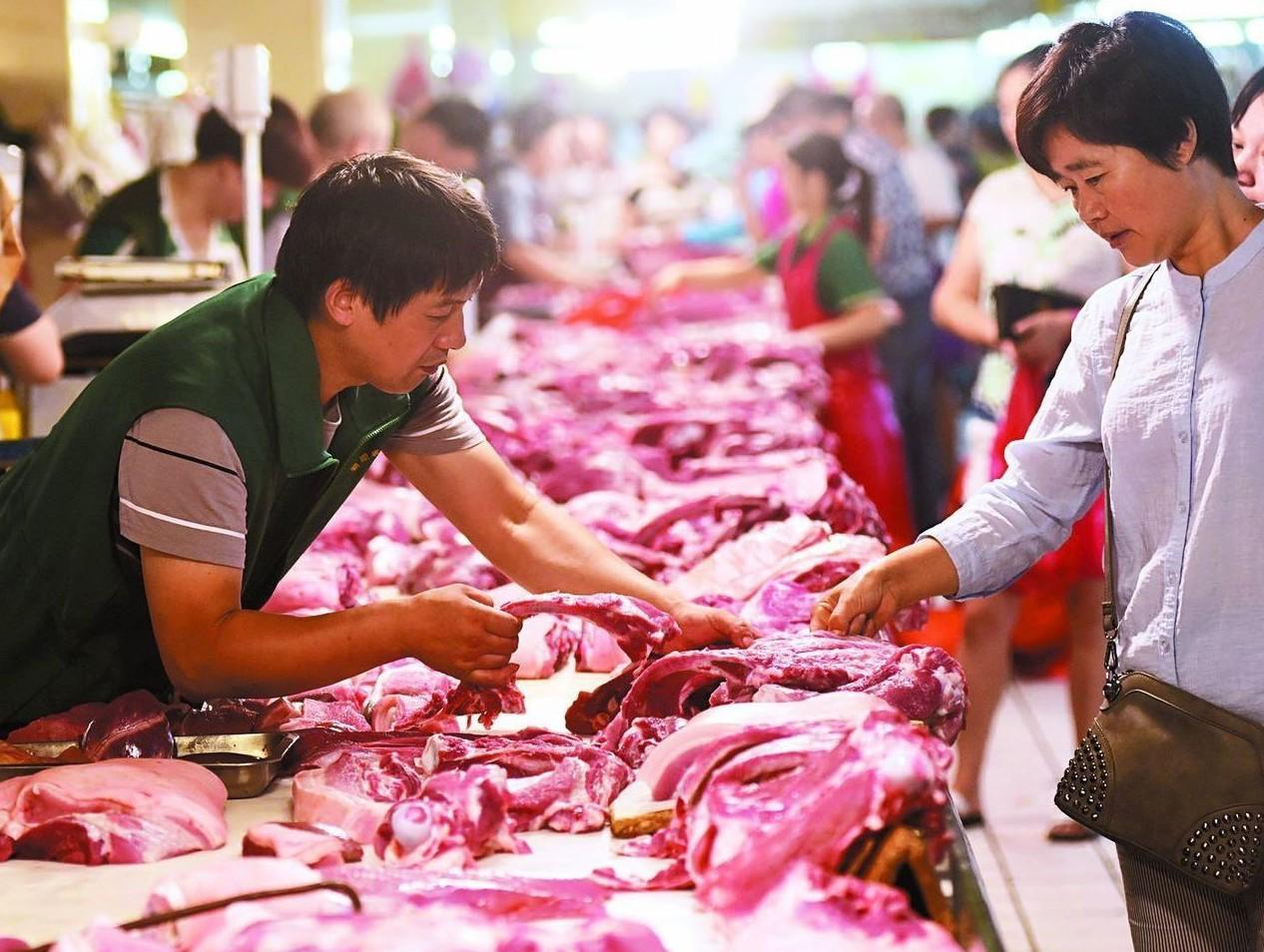 貿易戰讓大陸豬肉價格上漲。 (新華社)