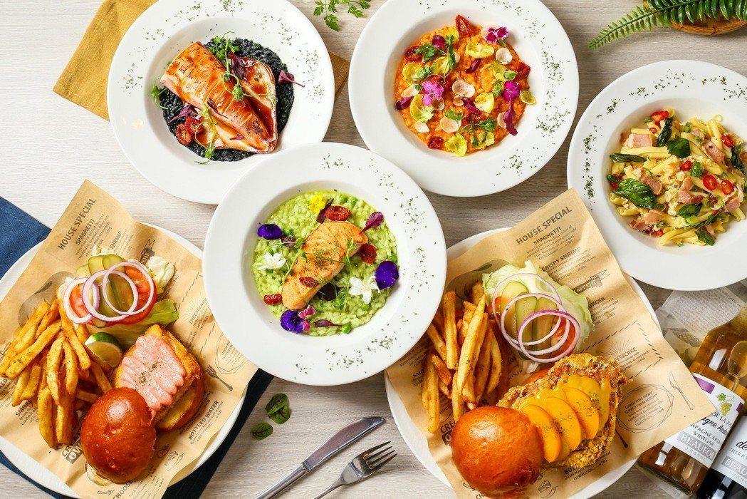 台北北投雅樂軒酒店NOOK聚聚樂餐廳以天然食材玩色彩學。北投雅樂軒酒店/提供