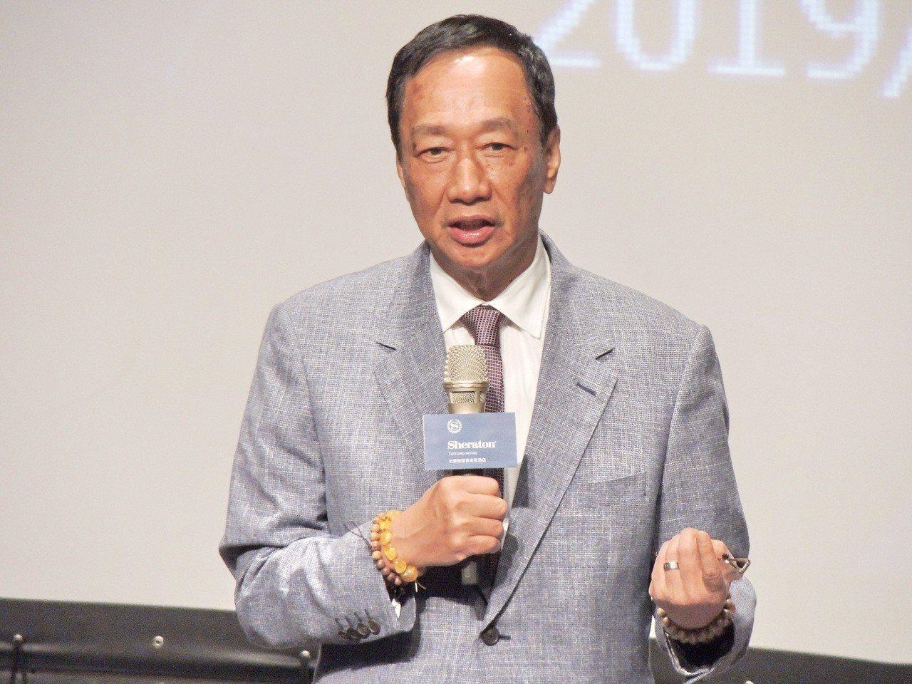 鴻海董事長郭台銘。聯合報系記者羅紹平/攝影