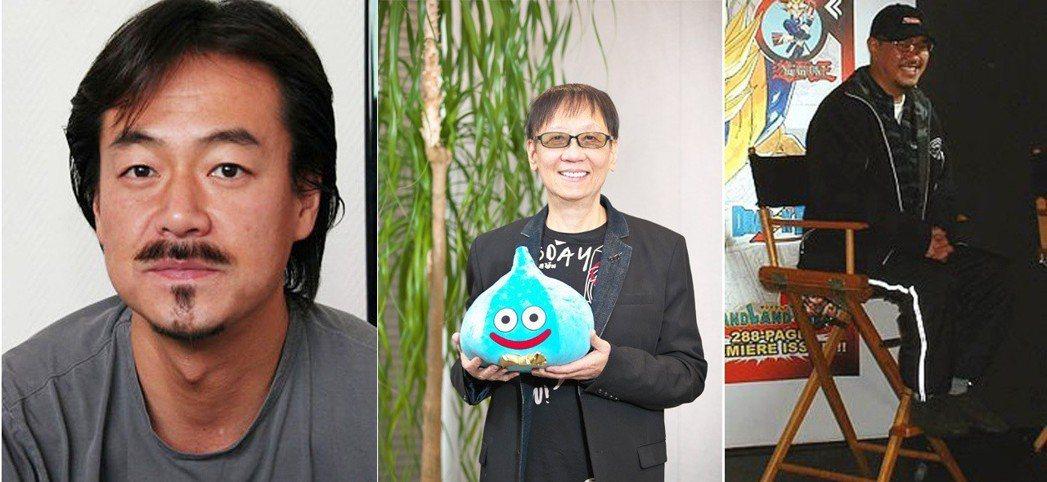 左起:坂口博信、堀井雄二、鳥山明,這三人的夢幻組合為稱為 Dream Proje...