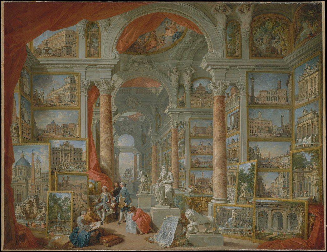 《現代羅馬》:中央走廊擺放數尊雕像,米開朗基羅製作的摩西像位於最顯眼的正中央,法...
