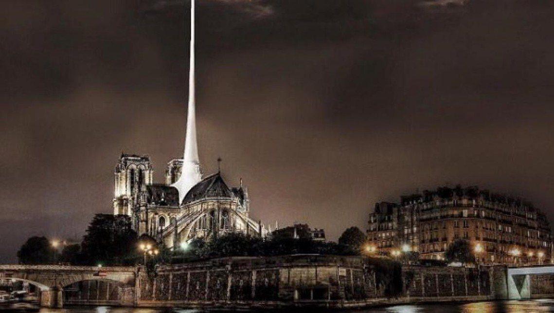 斯洛伐克的設計師Vizum Atelier的提案,乾脆改成「雷射光束塔」,只要有...