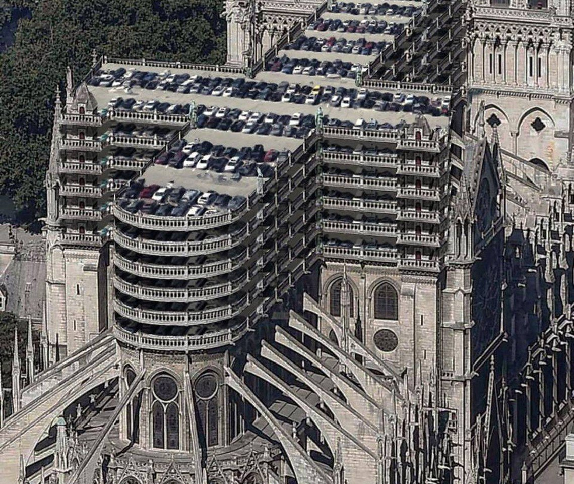 比利時首都區交通部長史梅特(Pascal Smet)的提議:「頂部應改成『空中停...