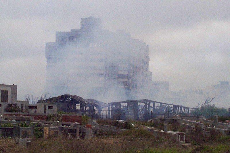 澎湖每年的清明節期間都是火災高峰期,攝於1999年。 圖/聯合報系資料照
