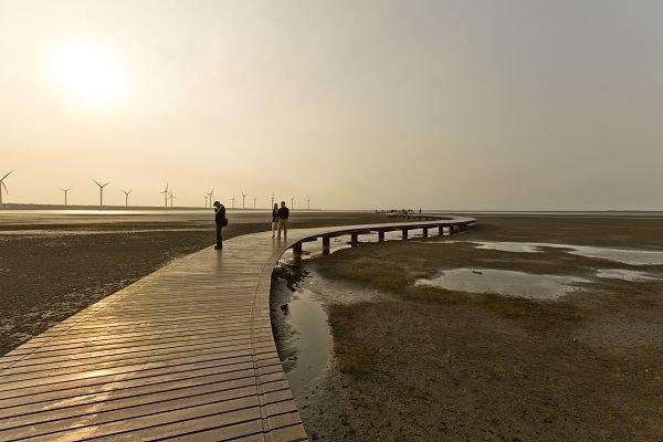 獲選生態景觀類最高票的清水區「高美濕地」。